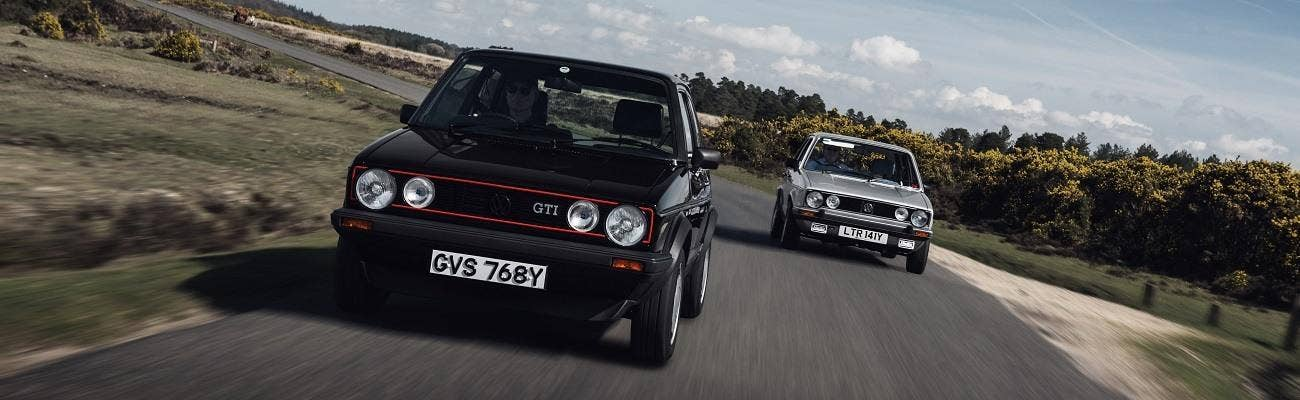 Rewind: Mk1 Golf duo in the New Forest