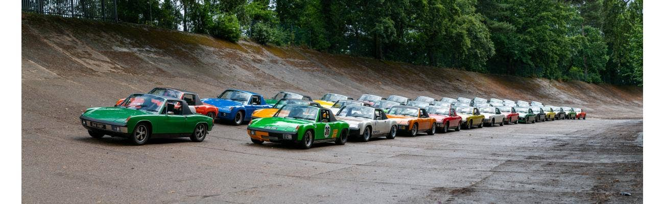 Porsche 914s at Brooklands