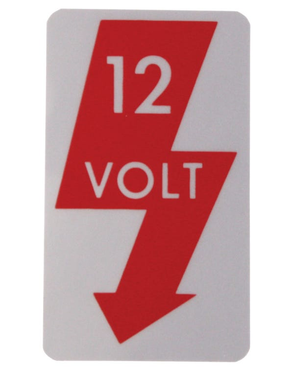Pegatina ''12v''