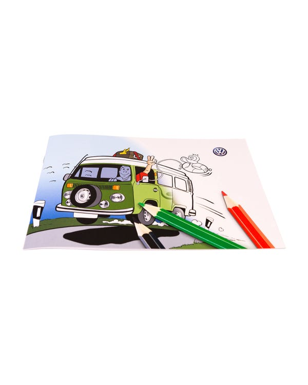 VW Bus coloring Book