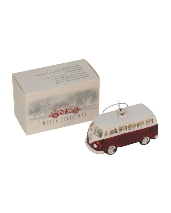 Christmas Tree Decoration VW Split, Red, Genuine VW