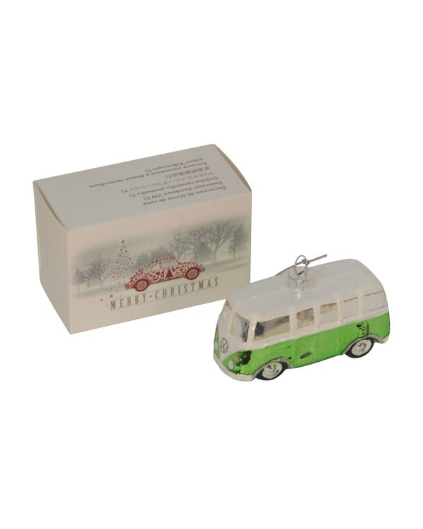 Christmas Tree Decoration VW Split, Green, Genuine