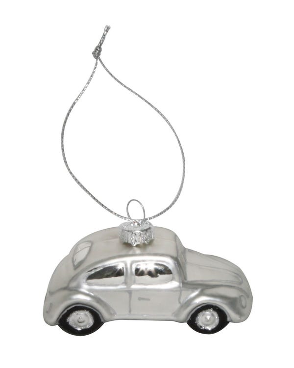 Christmas Tree Decoration VW Beetle Silver