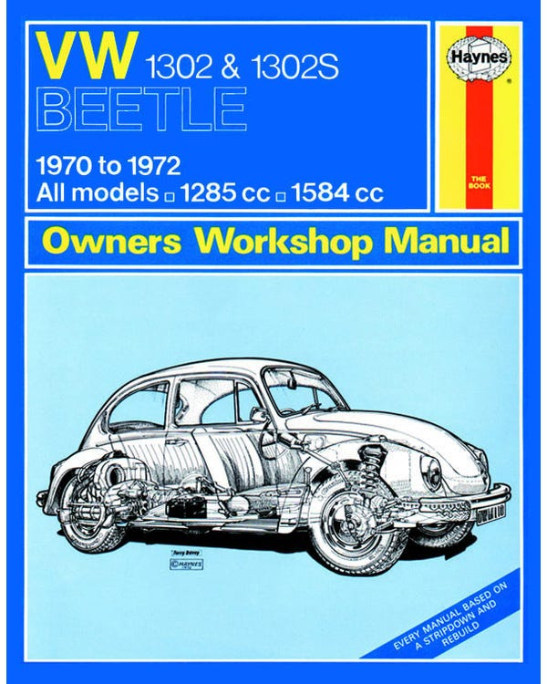 Haynes Workshop Manual 1302 Only