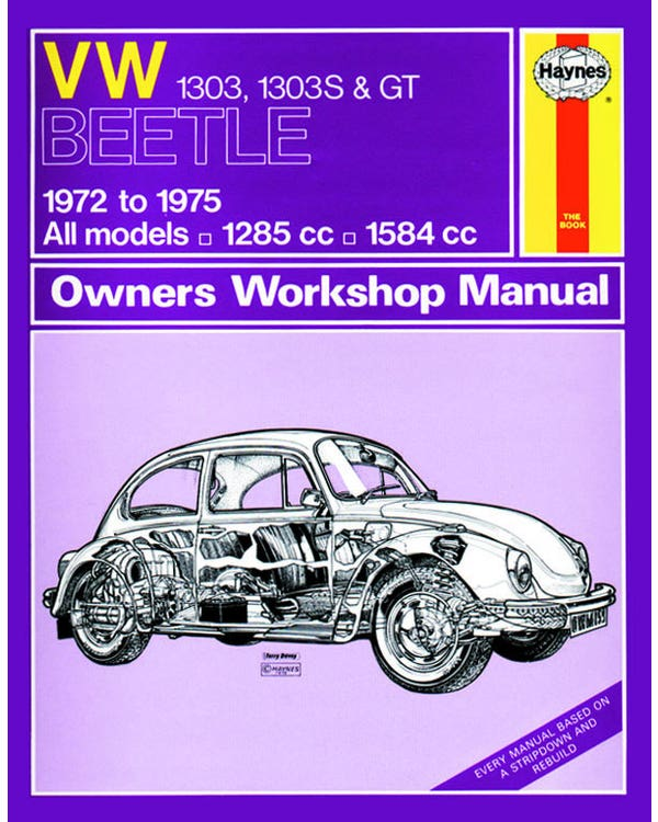 Haynes Workshop Manual 1303 and GT Only