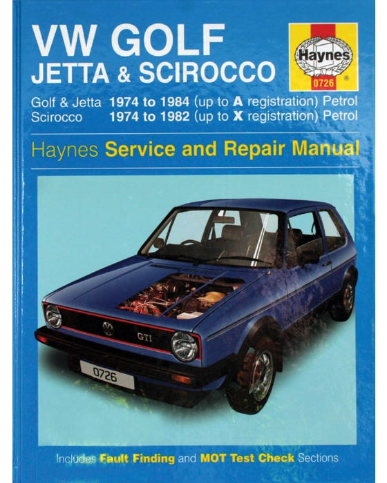Manual de taller VW Mk1. Modelos de gasolina 1.1-1.3
