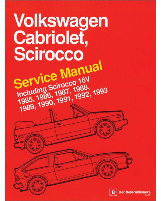 Bentley Manual, Cabriolet & Scirocco 1985-1993
