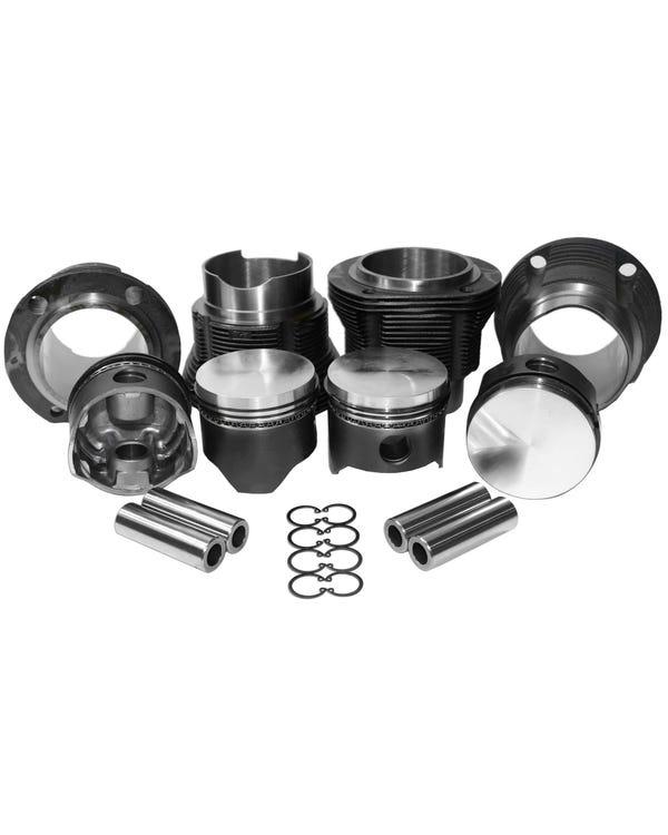 Zylinder- und Kolbensatz, Typ 4, 1700cc (flache Oberseite) 90x66, CA/CB-Code