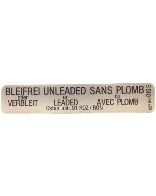Sticker Unleaded Fuel
