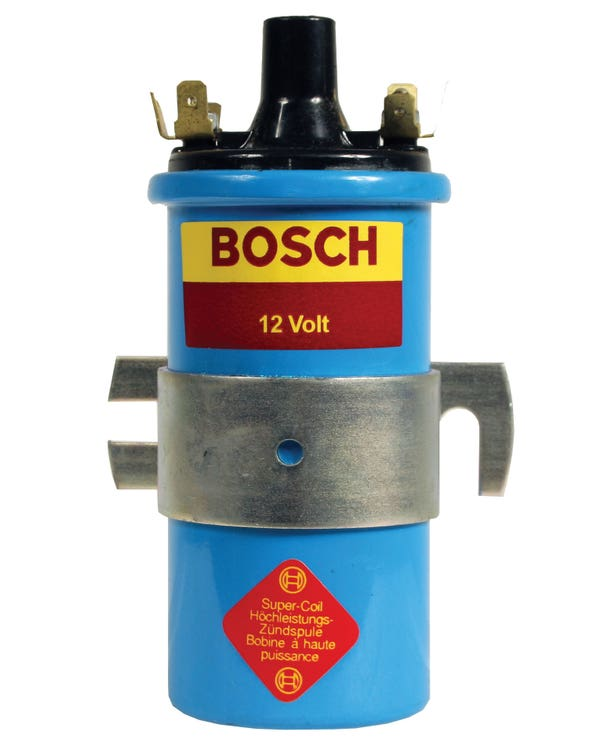 Bosch Ignition Coil 12 Volt Blue with Clamp