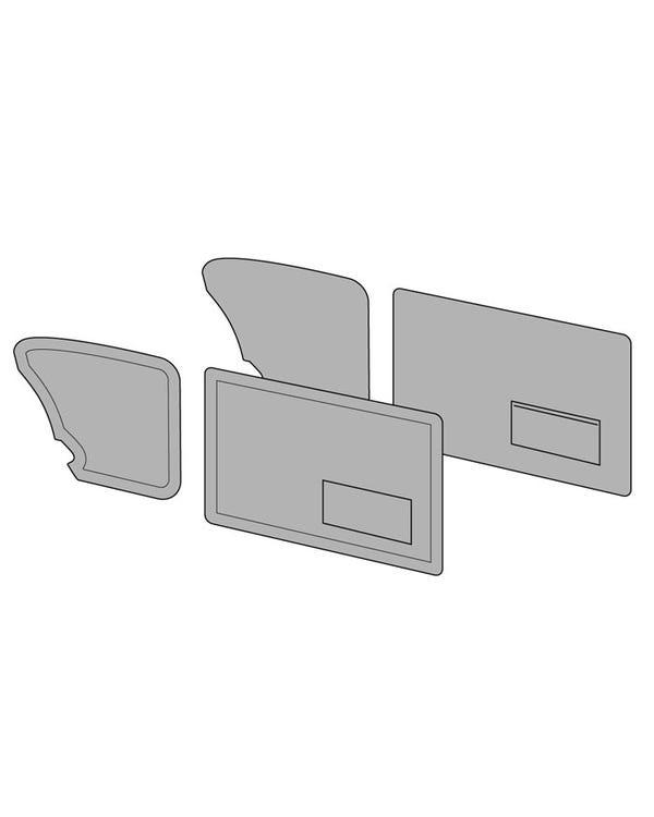 Door Card Set with Pockets in Tweed or Velour