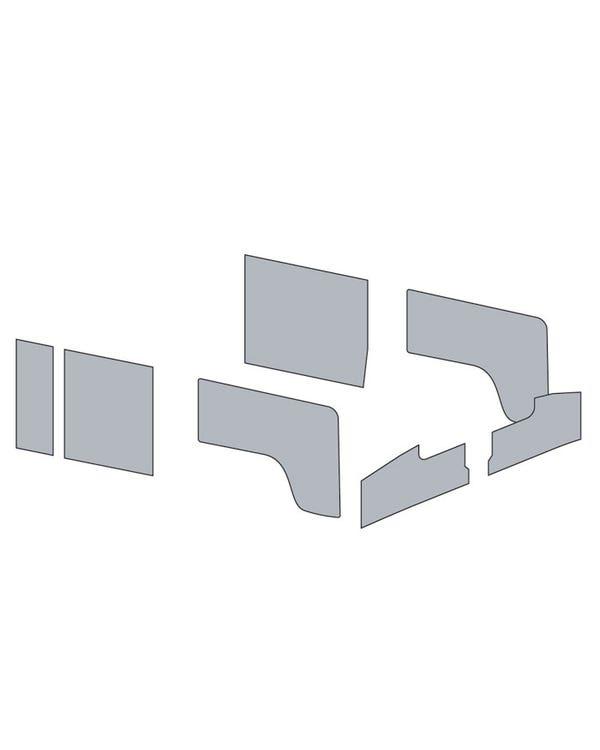 Türinnenverkleidungssatz für Linkslenker, Doppelkabine, in einfarbigem Vinyl