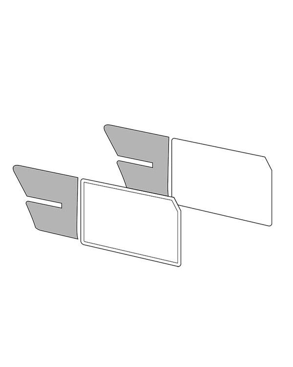Rear 1/4 Panels Notch 61-74 w/o armrest Tweed/Velour