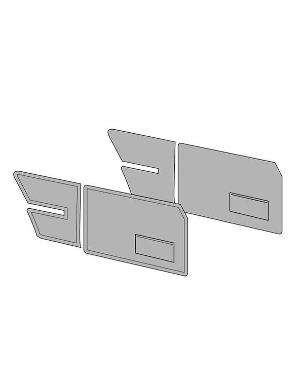 Door Card Set with Door Pockets for Notchback in Single Colour Vinyl