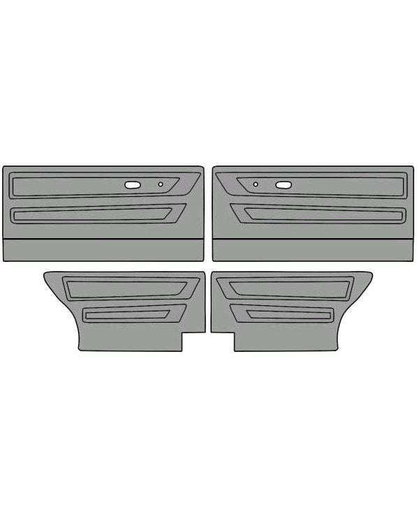 Türinnenverkleidungssatz für 2-Türer, in einfarbigem Vinyl