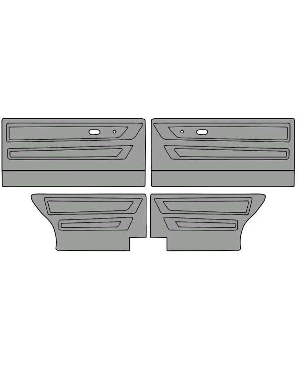 Conjunto de paneles para puertas para modelos de dos puertas en vinilo de un solo color