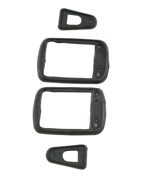 Door Handle Gasket Set for Square Button Handles