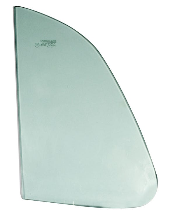 Front Quarter Light Glass with Green Tint to fit Left or Right Hand Side