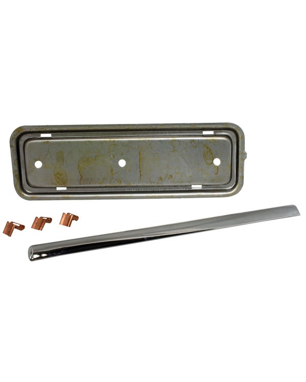Standard Radio Blanking Plate with Chrome Moulding