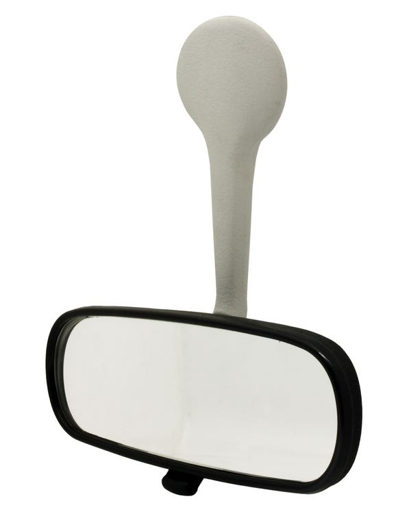 Rear View Mirror with a White Stem