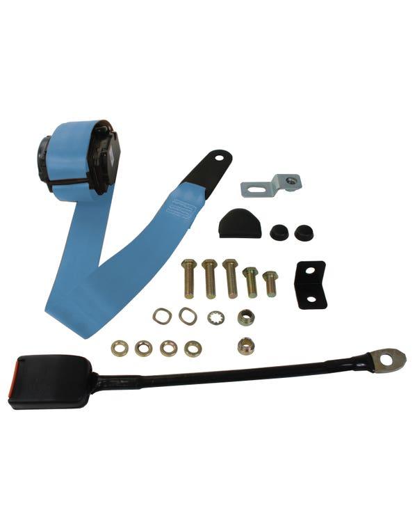 Dreipunkt-Automatikgurt, Vordersitz, mit moderner Schnalle, blau