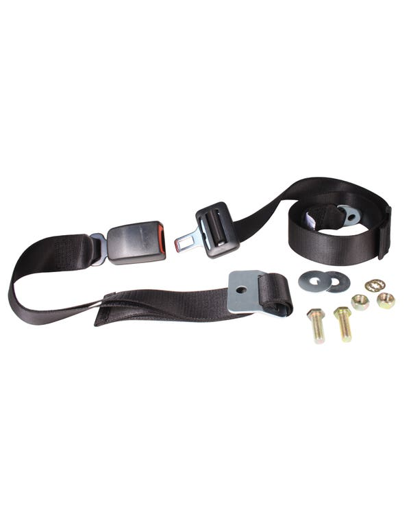 Lap Belt 2 Point Static with Modern Buckle and Black Webbing
