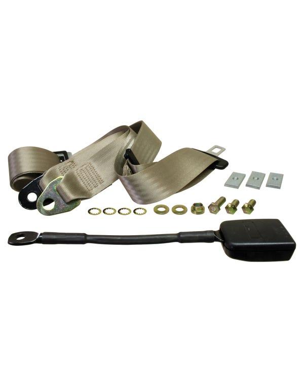 Front Seat Belt 3pt Static Modern Buckle Stalk Ivory Webbing