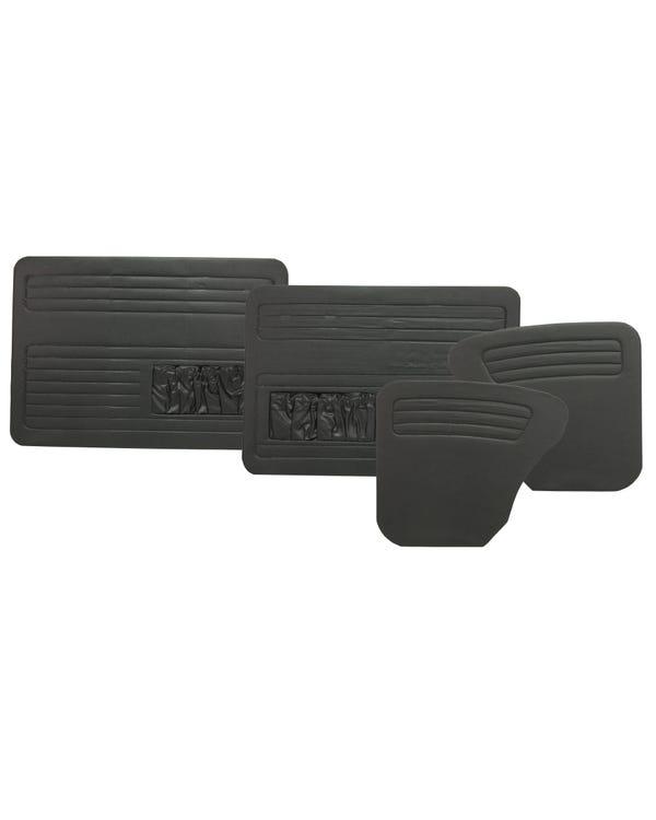 Türinnenverkleidungssatz mit Türtaschen in schwarzem Vinyl