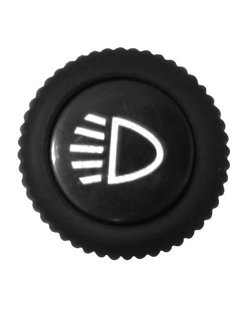 Tapa de interruptor de faro delantero para salpicadero de metal
