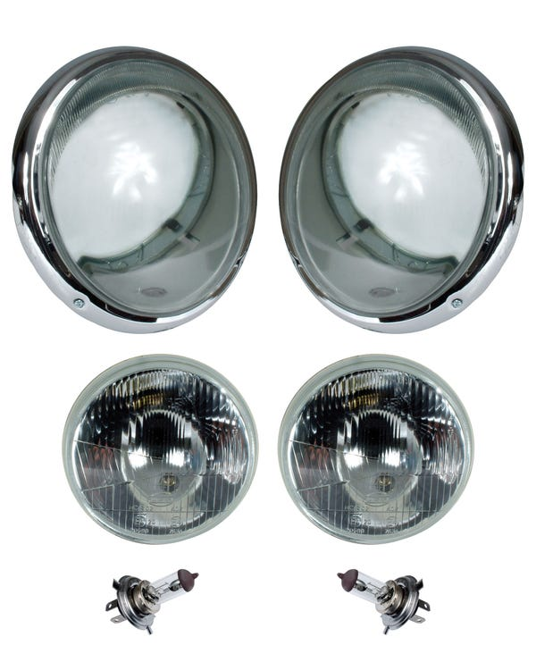 Headlight Set US Specification with Indicators for Right Hand Drive