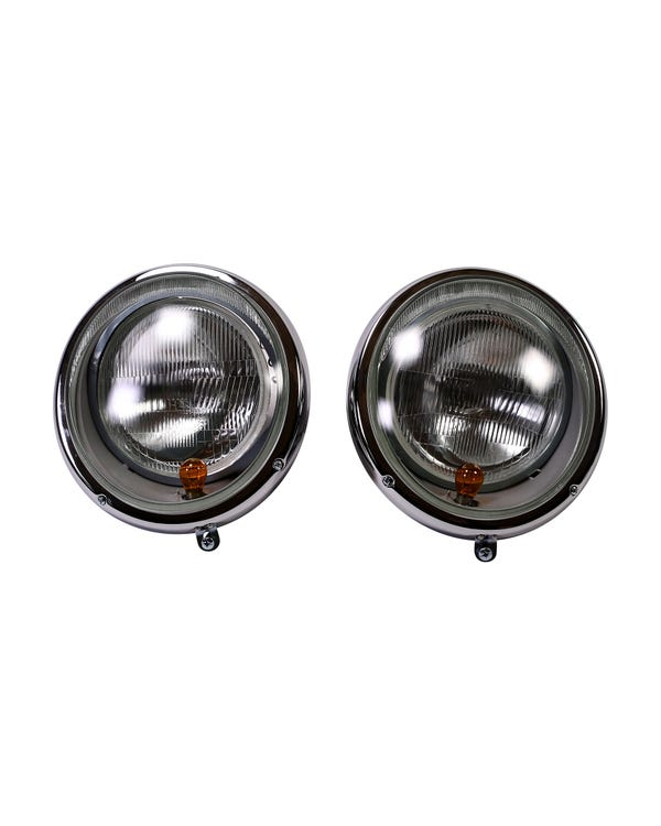 Headlight Set US Specification with Indicators for Left Hand Drive