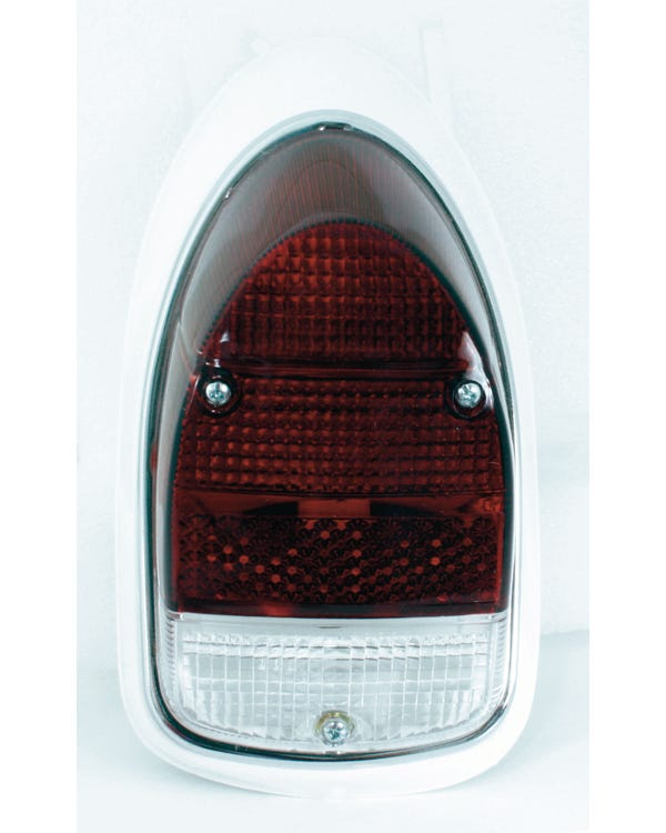 Complete Left Hand Rear Lamp Assembly with Red & Clear Lens