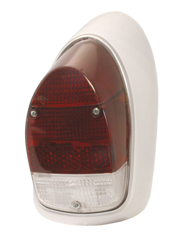 Complete Right Hand Rear Lamp Assembly with Red & Clear Lens