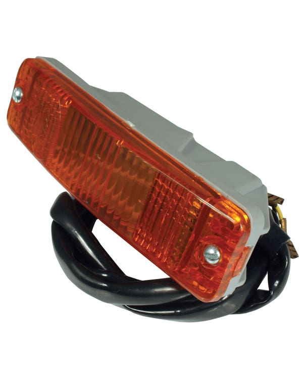 Bumper Mounted Front Indicator Assembly with Amber Lens