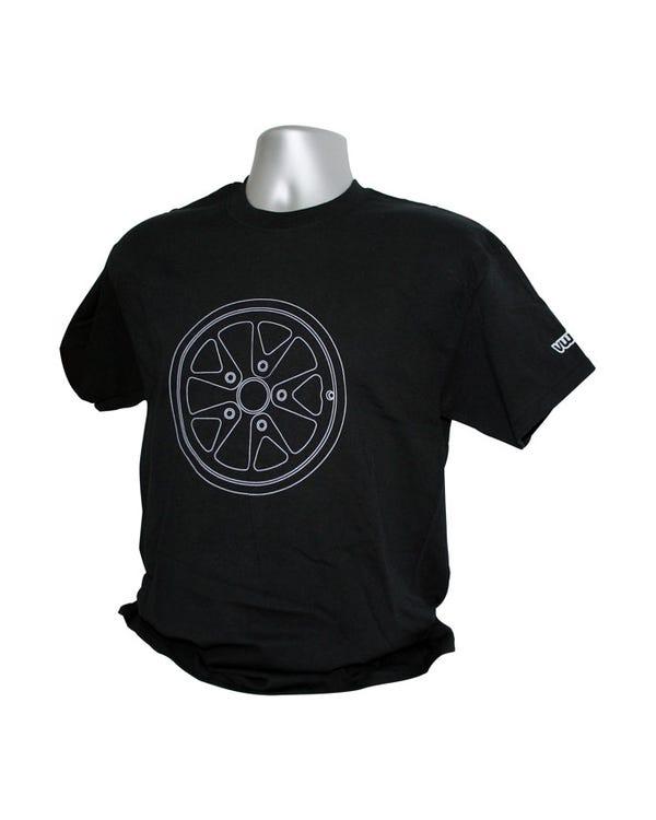 T-Shirt, schwarz mit UFO Design, Large