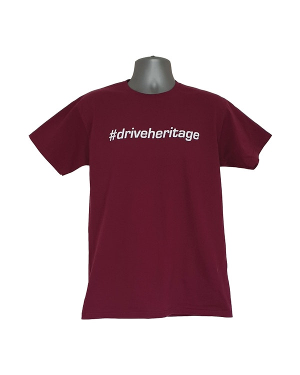 #driveheritage T-Shirt in Plum, Large