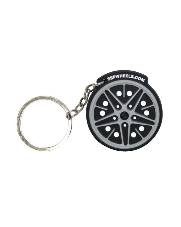 Rubber Keyring SSP Logo/Cosmic wheel