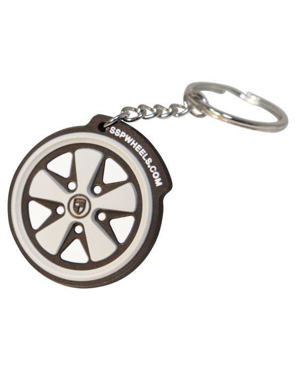 Rubber Keyring SSP Logo/Fook Wheel
