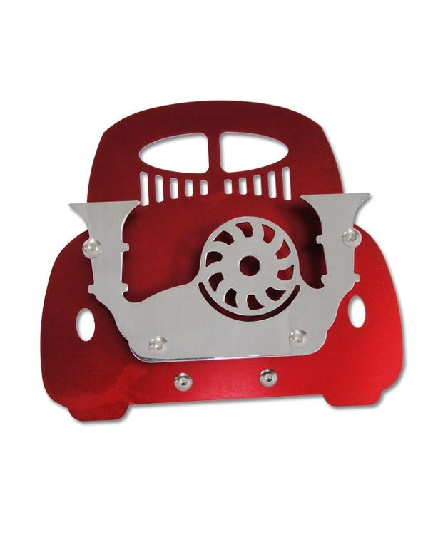 Vintage Speed Beetle Business Card Stand, Red