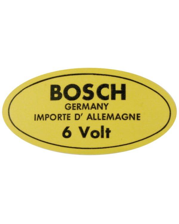 Sticker - 6v Bosch for Coil