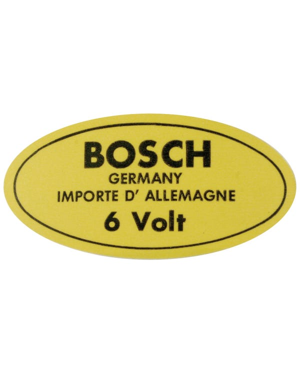Sticker - 6v Bosch for Coil