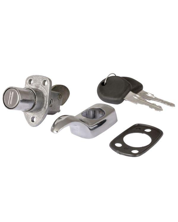 Motorhaubenschloss mit Schlüsseln, verchromt