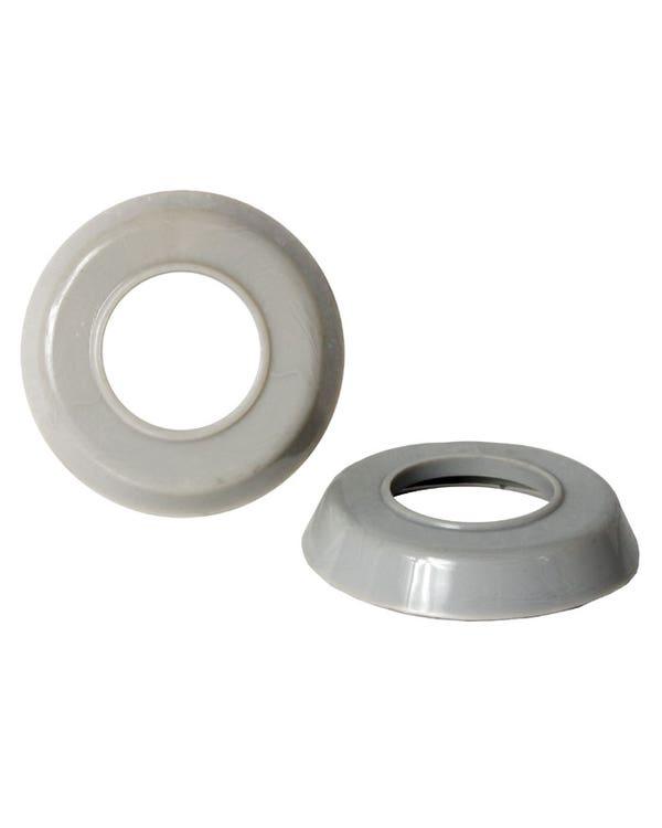 Interior Door Handle and Window Winder Trim Ring Set in Grey