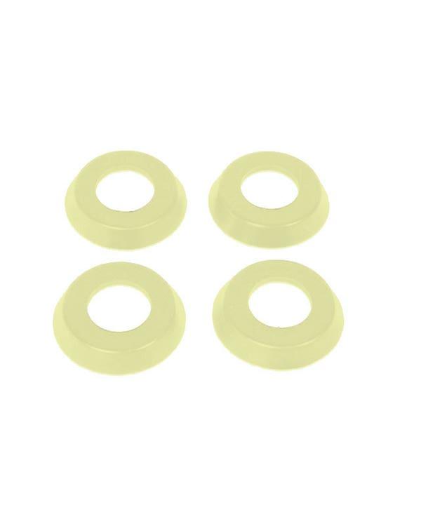Interior Door Handle & Window Winder Trim Ring Set, Ivory Color