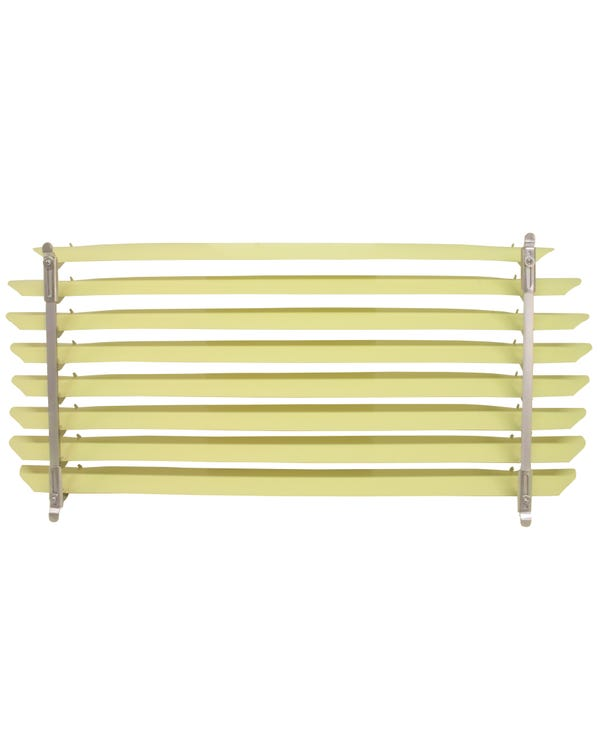 Rear Window Blind with Ivory colored Slats