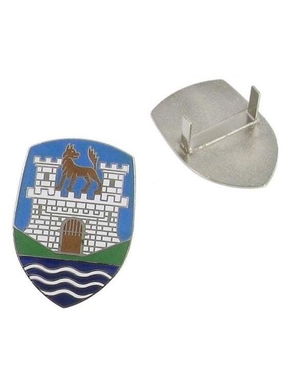 Wolfsburg Bonnet Crest, Blue and White