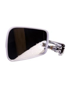 Wing Mirror Chrome Arm Stainless Steel Head and White Trim Left
