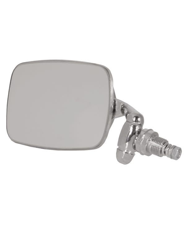 Wing Mirror with a Chrome Arm and Stainless Steel Head Left