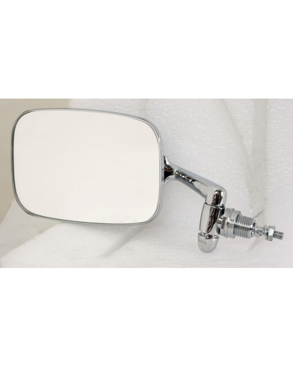 Wing Mirror with a Chrome Plated Arm and Stainless Steel Head Left for Right Hand Drive