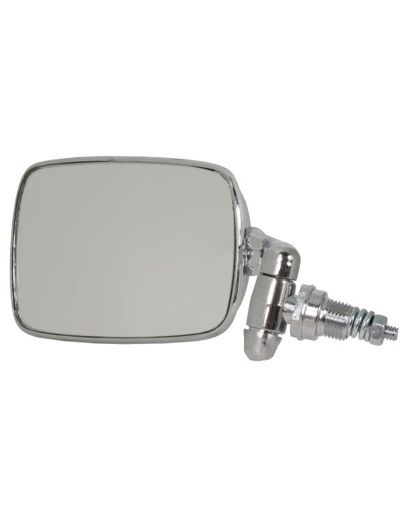 Door Mirror with a Chrome Arm and Head Left